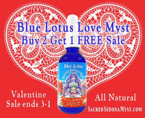 Blue Lotus Love Myst spray Valentine Sale!